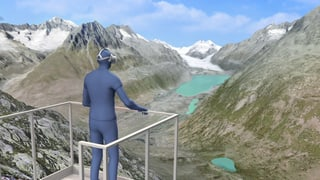 Den Tod des Aletschgletschers sehen – in virtueller Realität