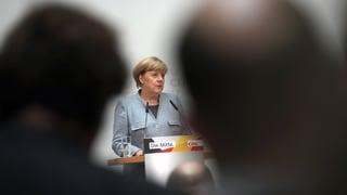 Merkel sieht keine Fehler im Wahlkampf
