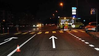 Wöschnau: Mann auf Fussgängerstreifen schwer verletzt