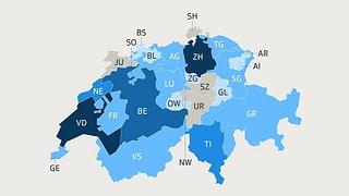 Infografik: Die meisten Bundesräte stammen aus Zürich