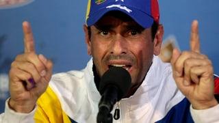 Maduro verbietet Kundgebung – Capriles verzichtet