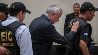 Guatemalas Ex-Präsident in U-Haft