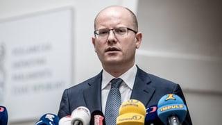Tschechischer Ministerpräsident kündigt Rücktritt an