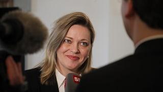 Heidi Z'graggen entra en il cumbat