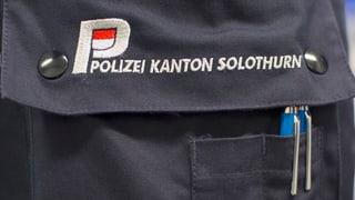 Solothurner Regierung gibt Stadtpolizeien noch eine Chance