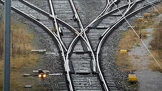 Hunzenschwil: Mit Betonsockel Weiche blockiert