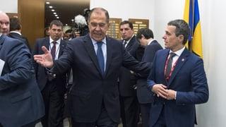 Cassis trifft Russlands Aussenminister zum Gespräch