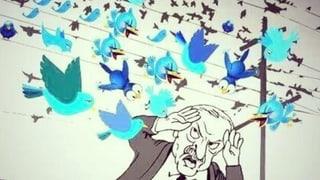Wenn der kleine Vogel zurückschlägt