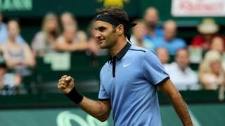 Federer en il quartfinal a Halle