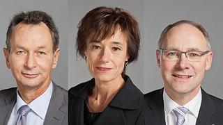 Ständerats-Kandidaten Knecht, Müller, Humbel im Quervergleich