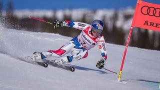 Nagins Grischuns en il segund percurs dal slalom gigant