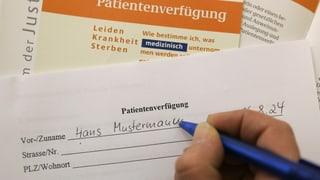 Darf ich meine eigene Patientenverfügung mit ins Spital bringen?
