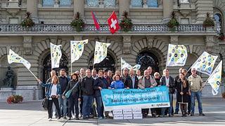 Protesta cunter reducziun da persunal tar la Swisscom