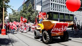18'000 Bauarbeiter demonstrieren in Zürich