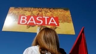 Rezession treibt Tausende auf die Strassen Roms