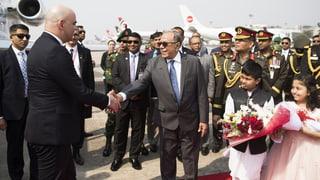 Bangladesch empfängt Bundespräsident Berset mit rotem Teppich