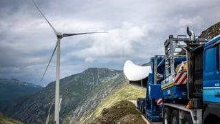 Höchstgelegener Windpark entsteht auf dem Griespass
