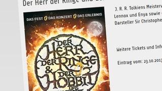Mehr Hobby als Hobbit: Kein Geld zurück nach Flop-Konzert