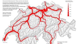 Der rote Wurm: Hier stehen wir Schweizer Tag für Tag im Stau