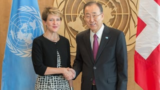 Ban Ki Moon lobt die Schweiz
