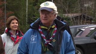 Pfadfinder Royal in Kandersteg – König Carl Gustaf in der Schweiz