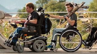 Joel Basman als Rüpel im Rollstuhl in «Vielen Dank für Nichts»