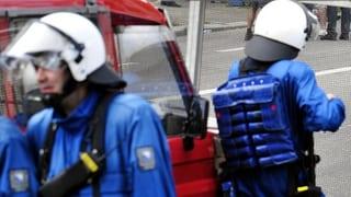Basler Polizei verhindert Schlägerei zwischen Fussball-Hooligans