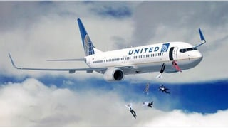 United Airlines-Image im Sturzflug