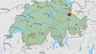 Die Erde bebte in der Ostschweiz