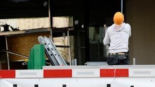 Baubranche stellt weniger Personal an