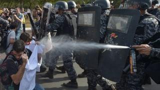 Proteste und Chaos an Fussball-Fest in Brasilien