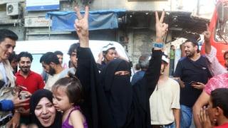 Syrische Rebellen feiern Erfolg im Kampf um Aleppo