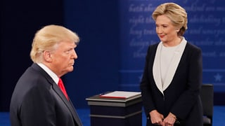 Trump gegen Clinton: Das zweite TV-Duell in Video-Clips