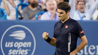 Federer profitiert von Goffin-Aufgabe