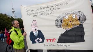 Grossdemonstrationen gegen TTIP und Ceta