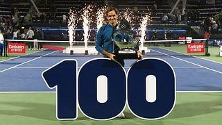 Federer gewinnt in Dubai sein 100. Turnier!