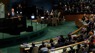 Iran sei ein wirtschaftlich ausgelaugter Schurkenstaat und exportiere vor allem Gewalt, sagte Trump Mitte September.