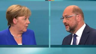 Schulz kann gegen Merkel nicht punkten