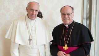 Visita en il Vatican – Vitus Huonder tar il papa