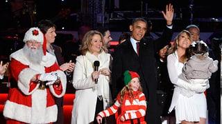 Grosse Show im Weissen Haus: Obama entzündet Weihnachtslichter