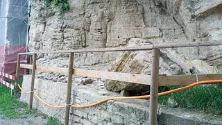Steinschlaggefahr auf Schloss Lenzburg