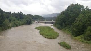 Die Flüsse sind voll – die Kantone beobachten die Situation