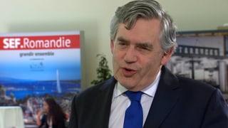 Gordon Brown: «Die Globalisierung zwingt uns zur Kooperation»