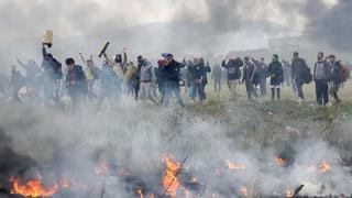 Flüchtlinge wollen nach Nordmazedonien marschieren