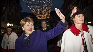 Das Wallis feiert seine Bundesrätin