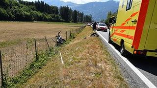Landquart: Motociclist collidà cun saiv