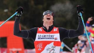 Dario Cologna a la testa da la delegaziun olimpica da passlung