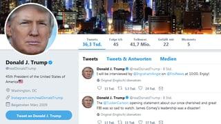 Das Netz reagiert auf #TrumpsTwitter