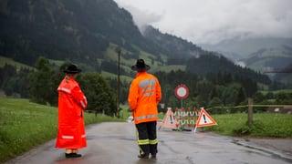 Neue Überschwemmungen im Kanton Bern nach starkem Regen