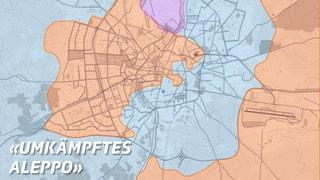 Karte: Das dreigeteilte Aleppo